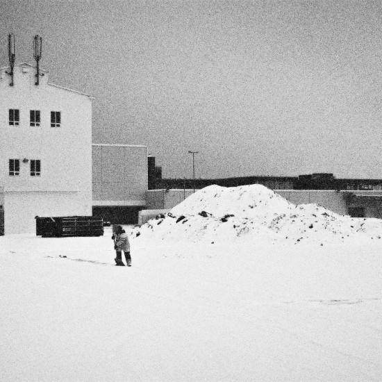 Shovelling Snow, Reykjavik 2015